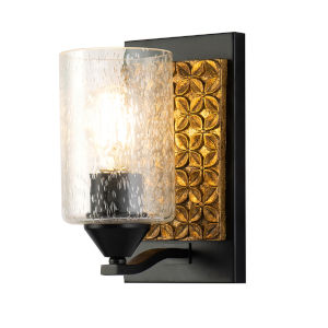 Arcadia Matte Black Bronze One-Light Wall Sconce