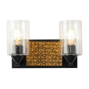 Arcadia Matte Black Bronze Two-Light Bath Vanity
