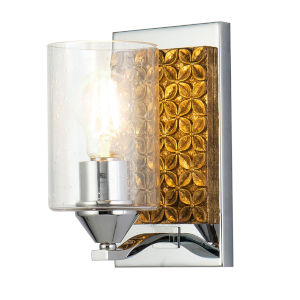 Arcadia Polished Chrome Bronze One-Light Wall Sconce