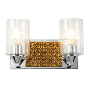 Arcadia Polished Chrome Bronze Two-Light Bath Vanity