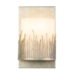 Sawgrass Silver Leaf with Antique One-Light Wall Sconce