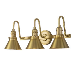 Provence Antique Brass Three-Light Bath Vanity