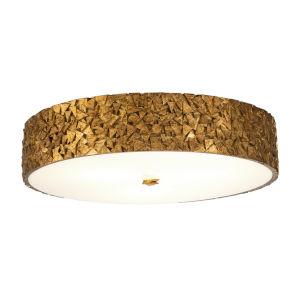 Mosaic Gold Leaf with Antique Four-Light Flush Mount