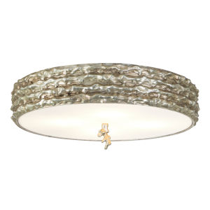 Trellis Silver Leaf with Antique Four-Light Flush Mount