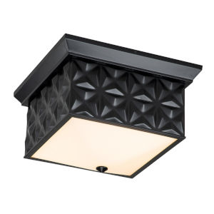 Alpha Matte Black Four-Light Flush Mount