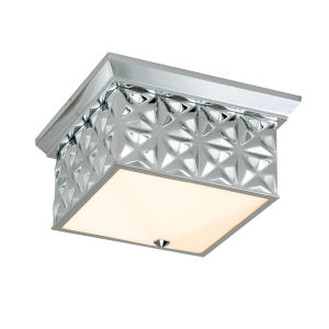 Alpha Polished Chrome Four-Light Flush Mount