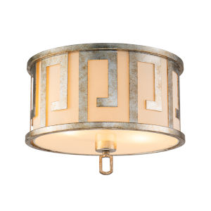 Lemuria Antique Silver Two-Light Flush Mount