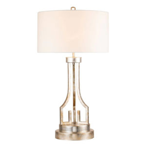 Lemuria Antique Silver One-Light Table Lamp