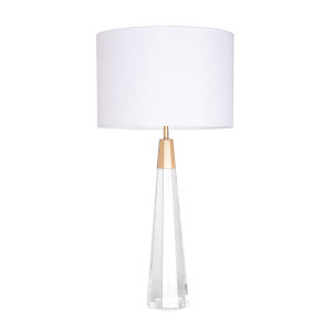 Monroe Brushed Brass One-Light Table Lamp