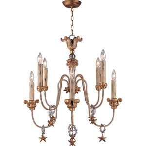 Mignon Eight-Light Gold Chandelier