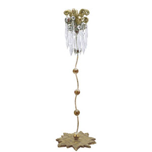 Venetian Distressed Gold 21-Inch Candlestick
