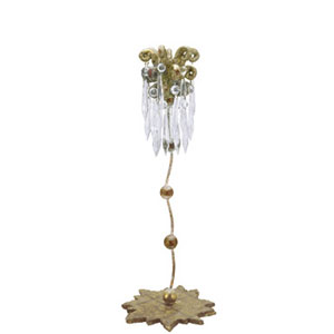 Venetian Distressed Gold 18.5-Inch Candlestick