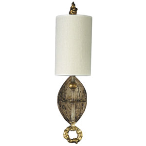 Dumaine One-Light Gold Leaf Wall Sconce