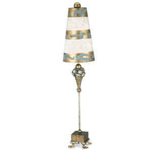 Pompadour Luxe Gold and Silver Table Lamp