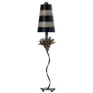 La Fleur Black and Tan Table Lamp