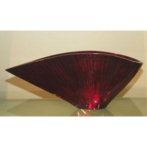 Curved Fan Vase Red Black
