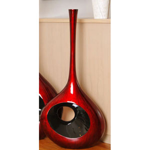 Red Black 37.75-Inch Large Hole Vase