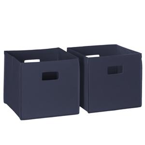 Navy 2 Piece Folding Storage Bins