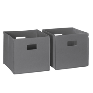 Gray 2 Piece Folding Storage Bins