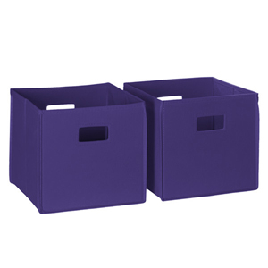 Dark Purple 2 Piece Folding Storage Bins