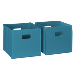 Turquoise 2 Piece Folding Storage Bins