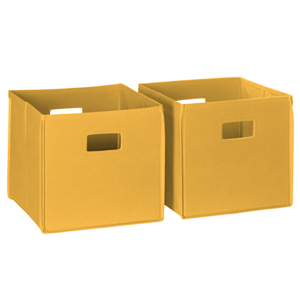 Golden Yellow 2 Piece Folding Storage Bins