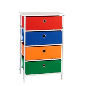 Kids Multi Colored Sort and Store 4 Bin Organizer