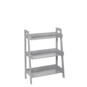 Kids Gray 3 Tier Ladder Shelf