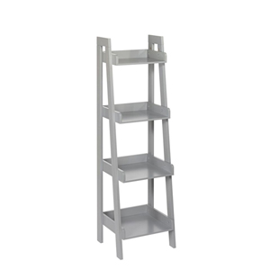 Kids Gray 4 Tier Ladder Shelf