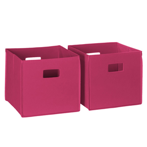 Hot Pink 2 Piece Folding Storage Bins