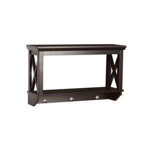 X-Frame Espresso Bathroom Wall Shelf