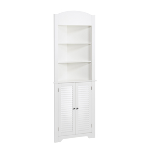White Ellsworth Tall Corner Etagere