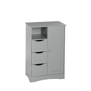 Ashland Collection - 1 Door, 3 Drawer Floor Cabinet - Gray