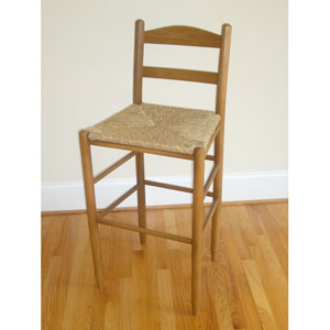 Medium Oak 24-Inch Ladder Back Barstool