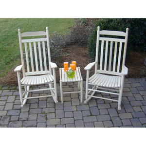 Unfinished Model 410 Rockers (Set Of 2) With Table
