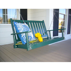 Green Porch Swing