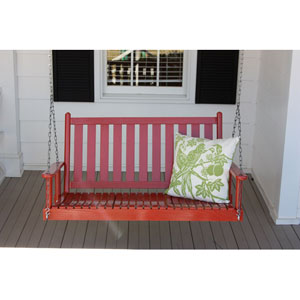 Sienna Red Porch Swing