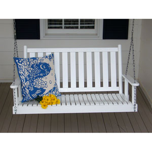 White Porch Swing