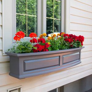 Nantucket Graphite Grey Four Feet Window Box