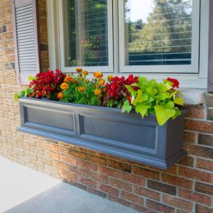Fairfield Graphite Grey Four Feet Window Box