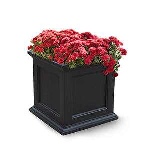 Fairfield Black 20x20 Inch Square Patio Planter