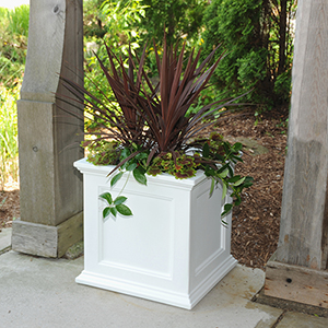 Fairfield White 20x20 Inch Square Patio Planter