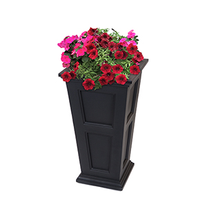 Fairfield Black Tall Planter