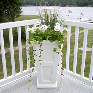 Fairfield White Tall Planter