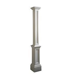 Signature White Lamp Post