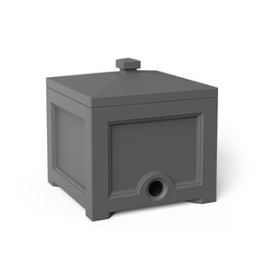 Fairfield Graphite Grey Garden House Bin