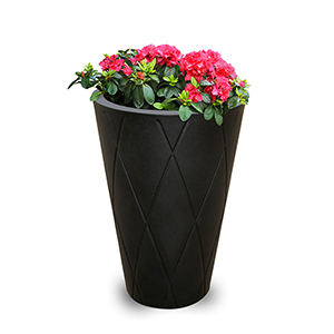Versailles Black 26-Inch Tall Round Planter