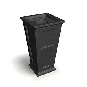 Fairfield Black 40-Inch Tall Waste Bin