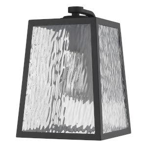 Hirche Matte Black 9-Inch One-Light Outdoor Wall Mount