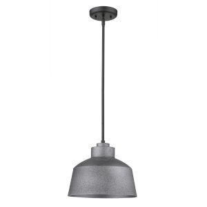 Barnes Gray One-Light Outdoor Convertible Pendant